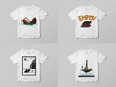 Prints T-Shirts pixel illustration pixel art design