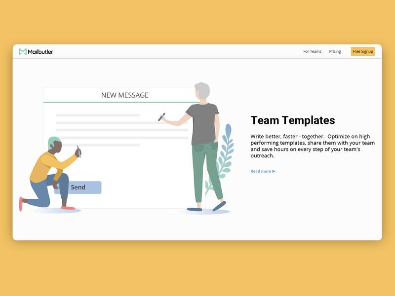 Team message template team message ux illustration