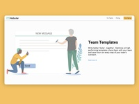 Team message template