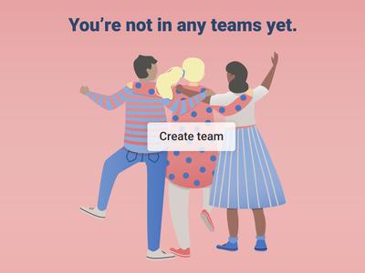 Create team visual design friends empty state team vector illustration