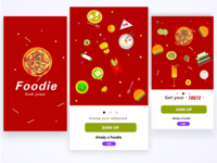 Food Delivery App Introduction  page