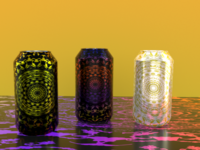 3D Soda can package design