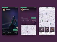 Streaming App - Stream View, Stream Detail & Streams Map