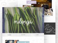 Milonga Landing Page