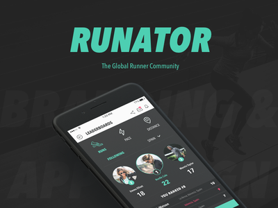 Runator - Mobile App Design leaderboards user interface ux social run running mobile app design ui