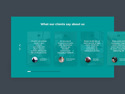 Client testimonials client testimonial website web design ux ui testimonial client user interface site