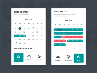 Date Picker dashboard interface interaction table ux ui date picker calendar picker dates