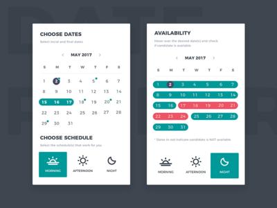 Date Picker dashboard interface interaction table ux ui date picker calendar picker dates