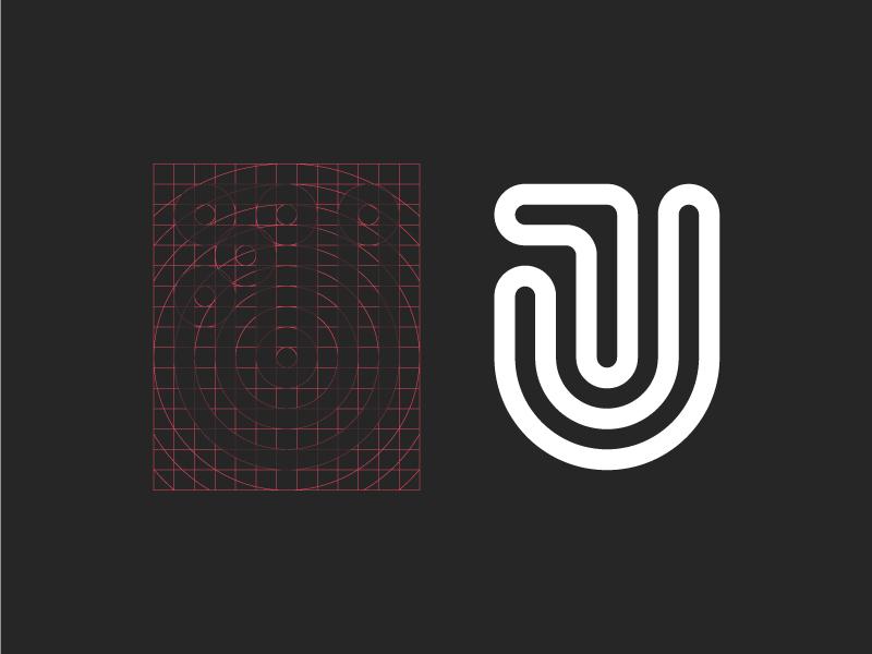 JT Logo minimalistic logos brand development geometry grid lines white black jt process logo identity brand
