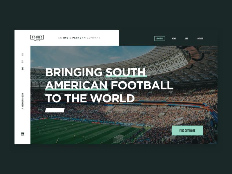 Fc Diez Landing typogaphy photo minimal new soccer sport website web ux design ui
