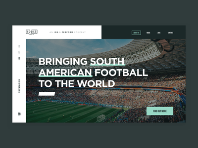 Fc Diez Landing typogaphy photo minimal new soccer sport website web ux design ui