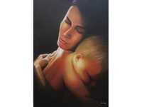 Mother And Baby oil painting