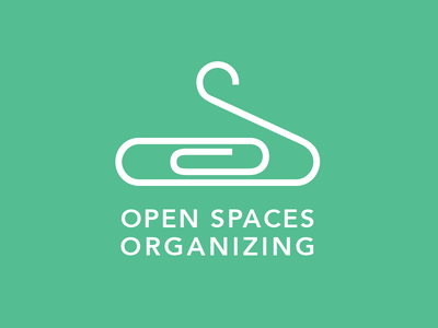 Open Spaces Organizing Logo logo typography icon line work