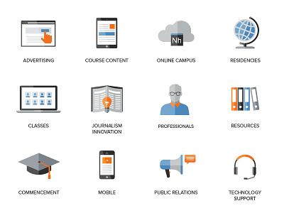 Marketing Degree Icons icons illustration education marketing