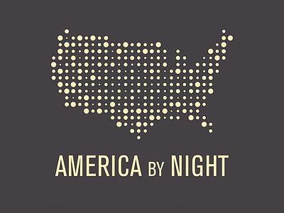 America By Night Logo identity design logos typography