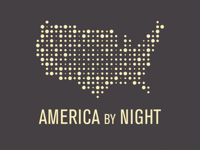 America By Night Logo identity design logos typography