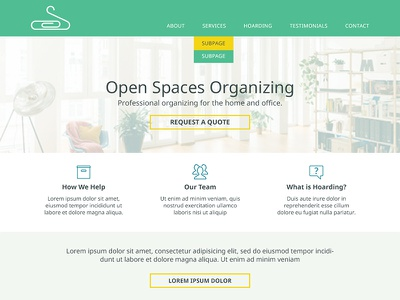 Open Spaces Organizing Homepage ui identity design iconography web design