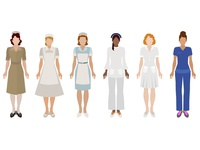 Evolution Of Nursing Illustration