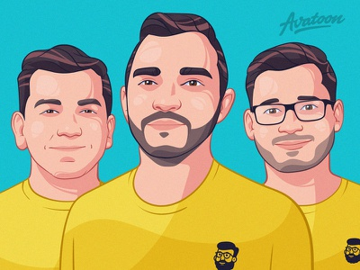 Custom Cartoon Avatars For Teams and Startups hari gif process design sketch man illustration face avatar cartoon