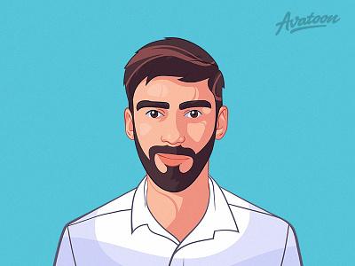 Cartoon Yourself With Avatoon mascot vector avatars profile man caricature illustration face avatar cartoon