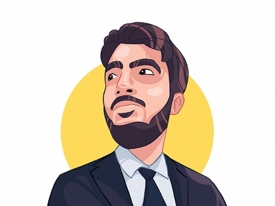 Custom Cartoon Avatar man hari gif sketch process illustration face cartoon design avatar