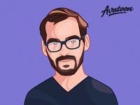 Cartoon Profile Illustration