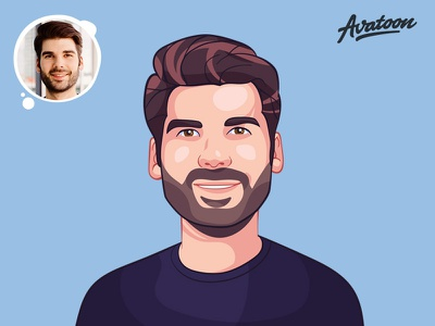 Custom Cartoon Portrait Design vector picture mascot cartoon character avatars drawing cartoon comic avatoon profile caricature hari gif process design sketch man illustration face avatar cartoon