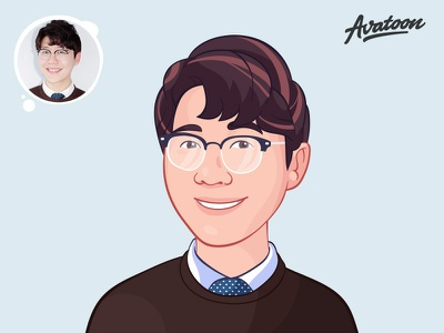 Custom Cartoon Avatar | Cartoon Yourself cartoon character avatoon art drawing cartoon comic vector avatars mascot profile caricature hari gif process design sketch man illustration face avatar cartoon