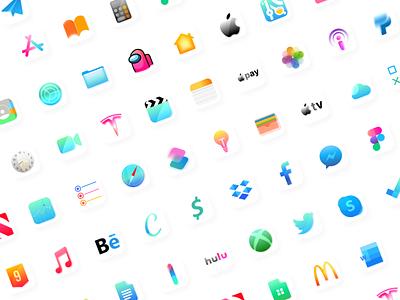 🍭Candy icon pack (Glassmorphism) ios14 uidesign uiux ui iconpack icon candy
