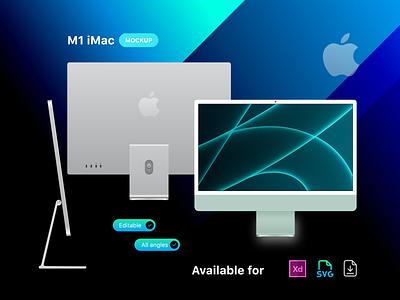 M1 iMac Mockup ui design ui uiux designer design adobexd mockups mockup