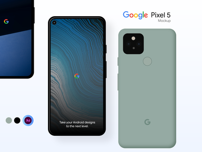 Google Pixel 5 Mockup mockup ios14 logo branding illustration iphone ui design uidesign uiux