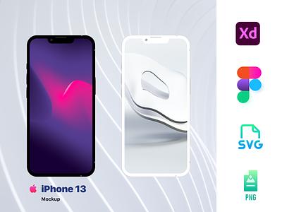 iPhone 13 Mockup (Figma & Adobe Xd) branding iphone13 logo illustration iphone ios14 mockup design uidesign uiux ui