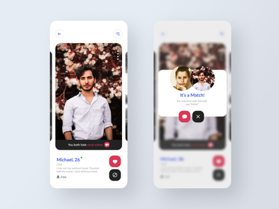 Dating app  - vol. 3 flat ui interface app mobile ios