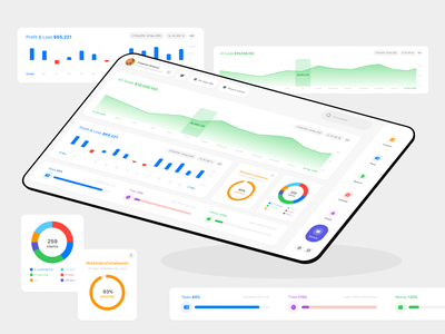 Project CRM Saas dashboard web design redesign ui ux design interface