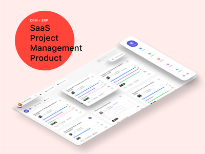 Project management SaaS product product webdesign interaction saas ios flat redesign mobile ui interface ux design