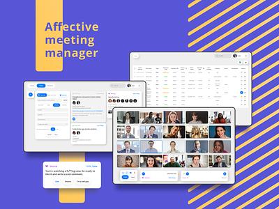 UX/UI design ! Affective meeting manager ui meeting app management app ui design web artificial intelligence saas interface ux ux design