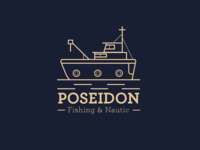 "Logo for ""Poseidon fishing & nautic"""