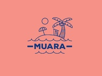 "Logo concept for ""Muara beach house"""