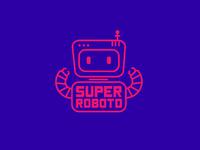 "Logo concept for ""Super Roboto"""