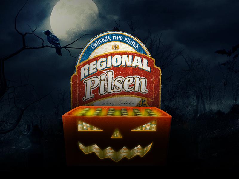 Halloween Creative Ads.Regional Pilsen Halloween Ad By Victor Guardia On Dribbble