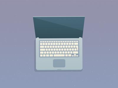 Laptop Illustration laptop flat macbook pro device apple macbook illustration destock computer purple keyboard augmented reality