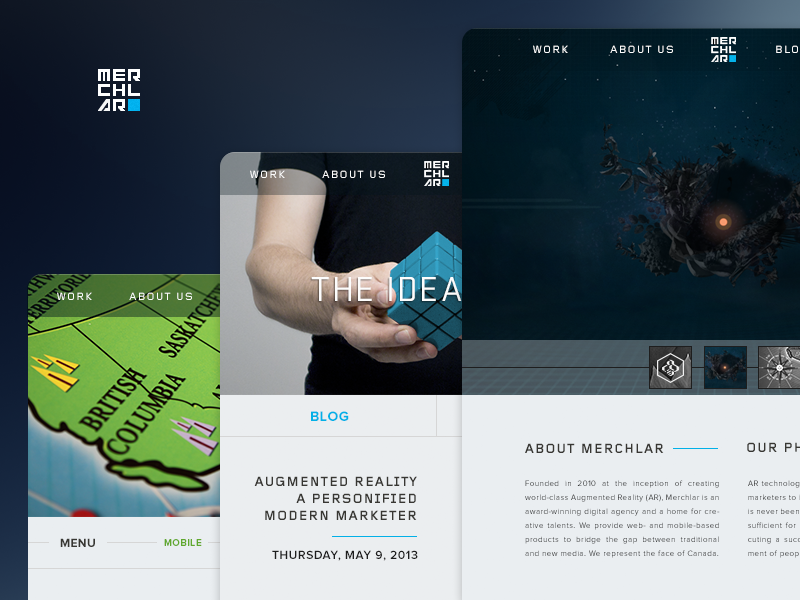 Merchlar Website dark responsive augmented reality ui website branding ux agency product design web ar