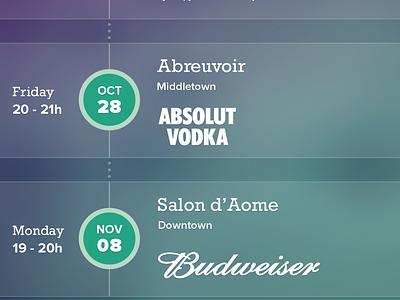Barpass new iOS barpass ios 8 iphone 6 blur bar event alcool drink gradient friend city pass