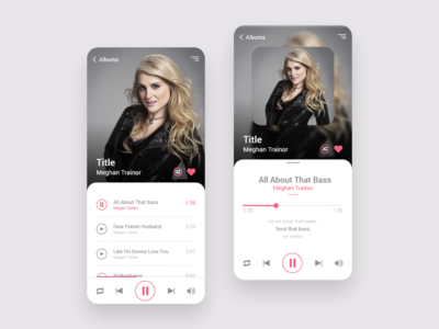 Album and Music Player