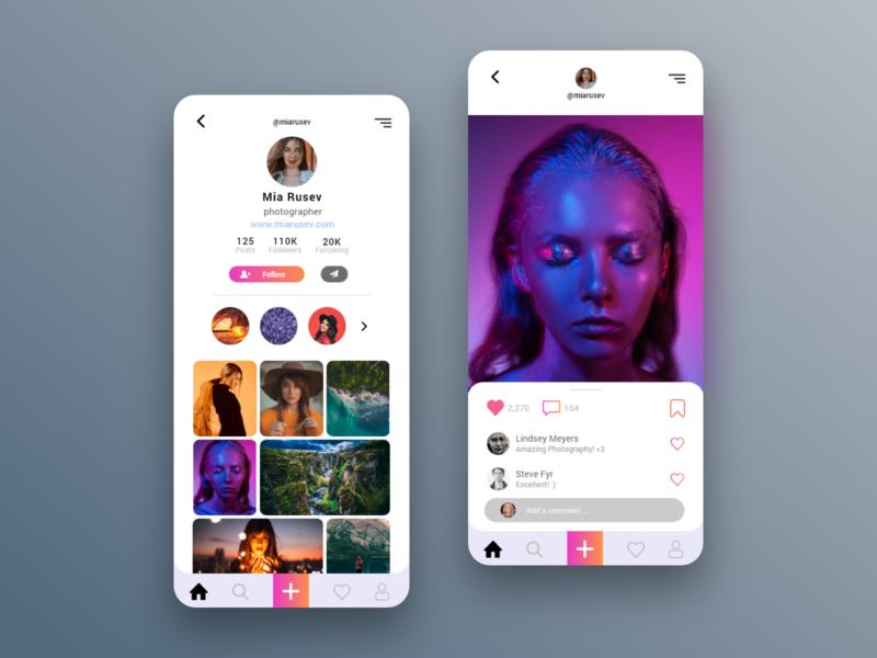 App to demonstrate your shots image talet showcase talet showcase profile view profile image view design concept ui ui  ux ui design