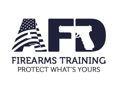 Logo design for a firearms training agency america training guns logo
