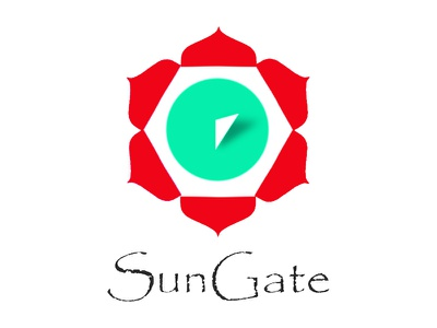 Logo design for a meditation class papyrus logo sun clock mandala meditation