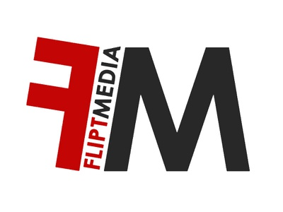 Logo design for a digital media startup logo flipt minimal