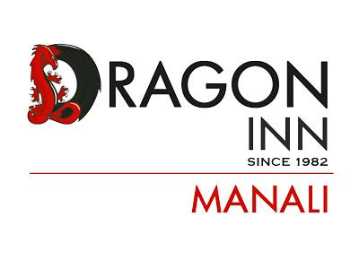 Logo design for an Indian inn restaurant logo restaurant branding word art manali inn dragon minimal logo