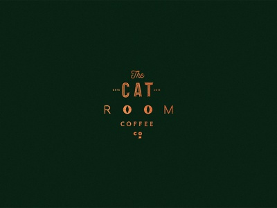 The Cat Room Coffee. logotype packaging icono letter typo graphic icon lettering illustration typography type design branding vector brand logo
